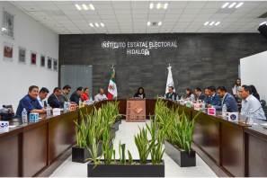 Efectúa Consejo General del IEEH primera sesión ordinaria de septiembre, se aprueba tope de gastos de Precampaña para el Proceso Electoral Local 2019-2020