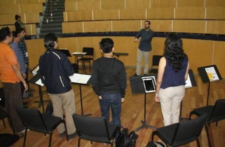 En puerta segundo curso de dirección orquestal por la OSUAEH1