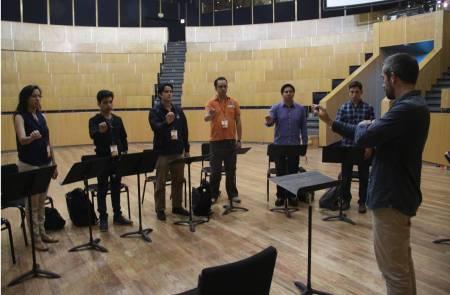 En puerta segundo curso de dirección orquestal por la OSUAEH2