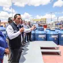 Encabeza Raúl Camacho Baños, 3er. entrega de tinacos a bajo costo en Mineral de la Reforma2