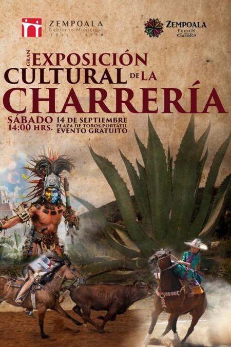 Exposicion cultural de charreria en Zempoala