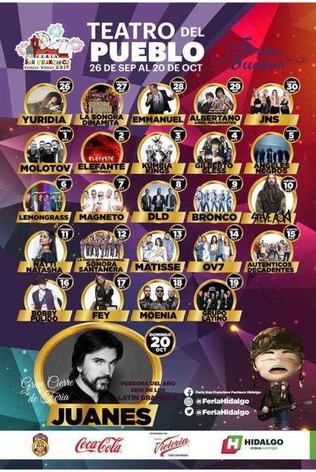 Programa Teatro del Pueblo Feria San Francisco Pachuca 2019-2