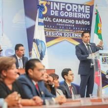 Refrenda alcalde Raúl Camacho baños su compromiso con los mineralreformenses durante su Tercer Informe de Gobierno 4