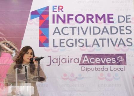 Rendir cuentas, es un acto de respeto a la ciudadanía – Jajaira Aceves rinde su primer informe de Actividades Legislativas