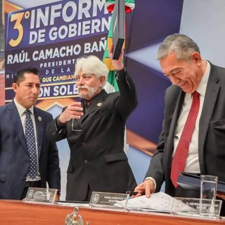 Rinde Raúl Camacho Baños su Tercer Informe de Gobierno 2