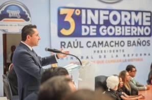 Rinde Raúl Camacho Baños su Tercer Informe de Gobierno 5