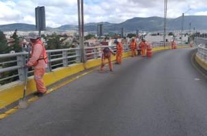 SOPOT realiza trabajos de limpieza en distribuidores viales de la Zona Metropolitana2
