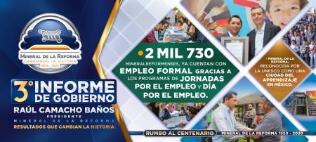 Tercer informe de gobierno de Mineral de la Reforma2