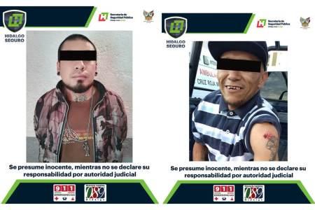 Detienen a dos hombres por probables delitos; uno en Mineral de la Reforma y otro en Pachuca.jpg