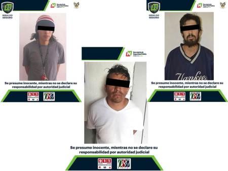 Durante operativos, asegura SSPH a 3 hombres con probable droga.jpg