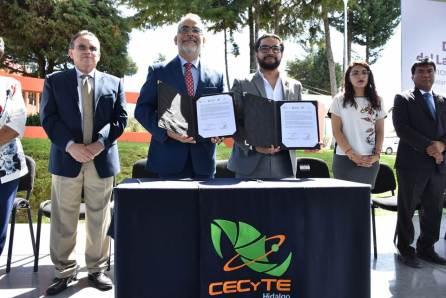 El CECYTE Hidalgo firmó convenio de colaboración con la Delegación Estatal del ISSSTE, en el Día Mundial del Lavado de Manos4