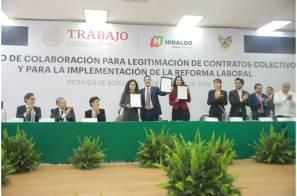 Hidalgo, primer estado en signar convenio para implementación de la reforma laboral2 (2)