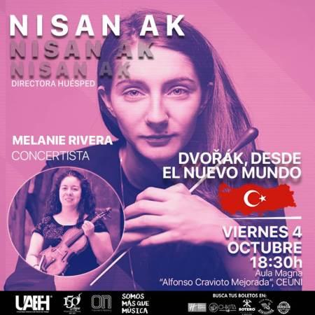 Nisan Ak debutará en México con la Orquesta Sinfónica UAEH