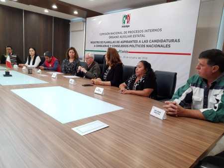 Presenta en el PRI la Planilla Verde encabezada por Sergio Edgar Baños Rubio para participar en la elección a consejeros políticos nacionales