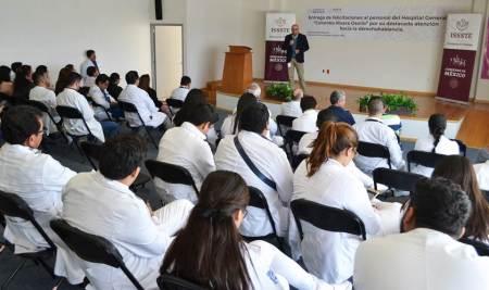 """Reconocen a personal del Hospital General """"Columba Rivera Osorio"""" por su destacada atención hacia la derechohabiencia, ISSSTE Hidalgo.jpg"""
