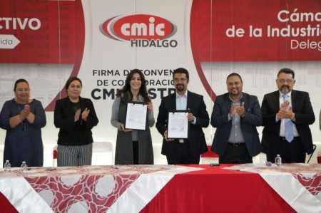 STPSH firma convenio de colaboración con la Cámara Mexicana de la Industria de la Construcción.jpg