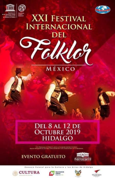 XXI Festival Internacional de Folklor llega a Hidalgo