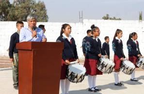 Alcalde de Tizayuca inaugura cancha de fútbol empastada y pista de atletismo en la secundaria Arnulfo Pacheco1
