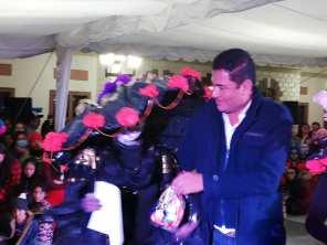 Concurso y desfile de catrinas y catrines en Zempoala