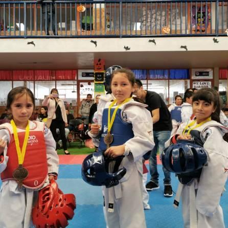Destaca en competencia Escuela Municipal de Taekwondo Fénix de Mineral de la Reforma