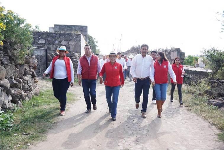 Dirigencia del CDE del PRI realiza gira de trabajo en Huichapan