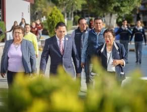 Entrega alcalde Raúl Camacho Ampliación de Aula para Laboratorio a CBTIS 8 2