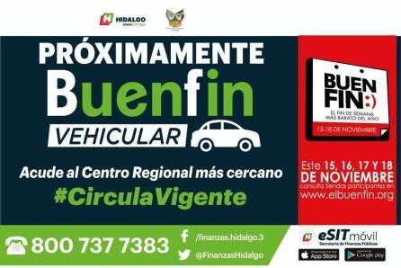 Hidalgo se sumará al buen fin vehicular, Actualiza tu placa y circula vigente4
