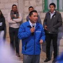 Inaugura alcalde Raúl Camacho ampliación de electrificación en El Saucillo