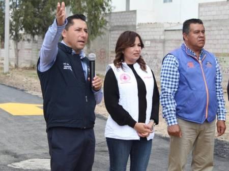 Inaugura alcalde Raúl Camacho Baños pavimentación pradera de Virreyes – Francisco Villa1