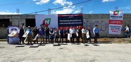 Inicia Gobierno del Estado obras de pavimentación en Mineral de la Reforma