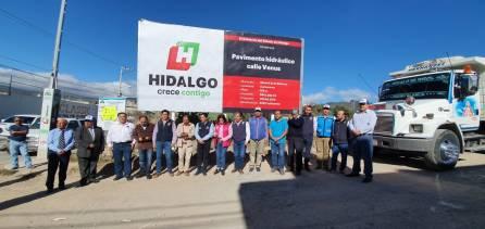 Inicia Gobierno del Estado obras de pavimentación en Mineral de la Reforma2