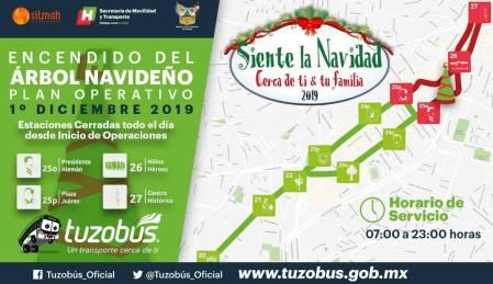 Inician encendidos de árboles navideños en Hidalgo4