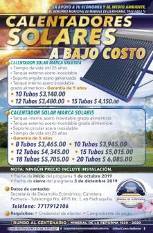 Invita Mineral de la Reforma a adquirir calentadores solares y tinacos a bajo costo2