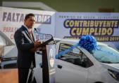 Realiza alcalde Raúl Camacho Baños sorteo de auto entre contribuyentes cumplidos2