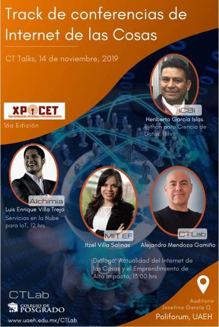 Realizará UAEH conferencia de Internet de las Cosas en XPOCET 2019