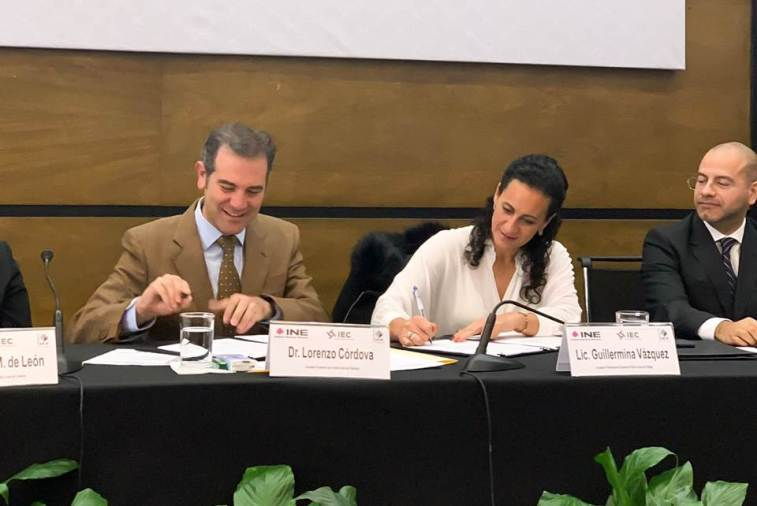 Rumbo al arranque del Proceso Electoral Local 2019-2020, IEEH firma convenio de colaboración con el INE