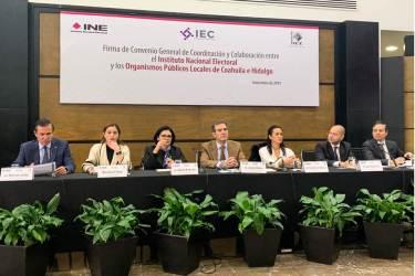 Rumbo al arranque del Proceso Electoral Local 2019-2020, IEEH firma convenio de colaboración con el INE3