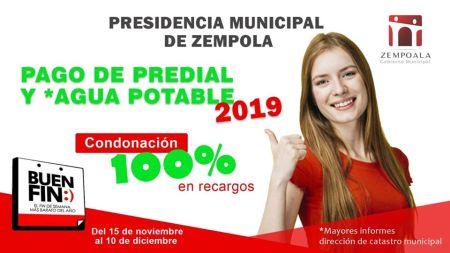 Zempoala. condonación de recargos 2019