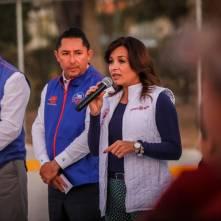 Encabeza Raúl Camacho banderazo de obra de pavimentación de concreto en Fraccionamiento Los Pinos 1