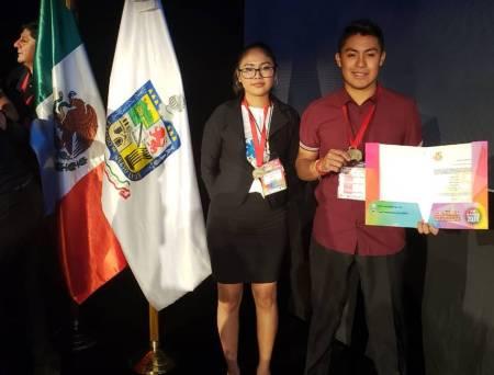 Estudiantes del COBAEH obtuvieron 1er lugar en el ExpoCiencias Nacional 2019-1