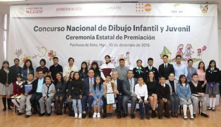 Gobierno de Hidalgo premia a ganadores del Concurso Nacional de Dibujo Infantil y Juvenil1