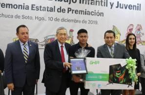 Gobierno de Hidalgo premia a ganadores del Concurso Nacional de Dibujo Infantil y Juvenil2