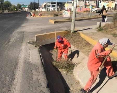 SOPOT realiza trabajos de limpieza en boulevard el Minero2