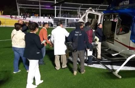 Trasladan vía aerea a hombre que presentaba quemaduras al Hospital General de Pachuca2