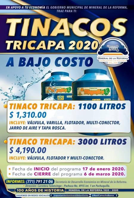 Arranca programa municipal de tinacos a bajo costo en Mineral de la Reforma2