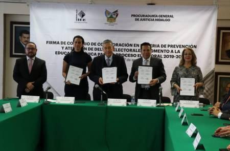 Autoridades electorales de Hidalgo firman convenio 1