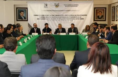 Autoridades electorales de Hidalgo firman convenio 2