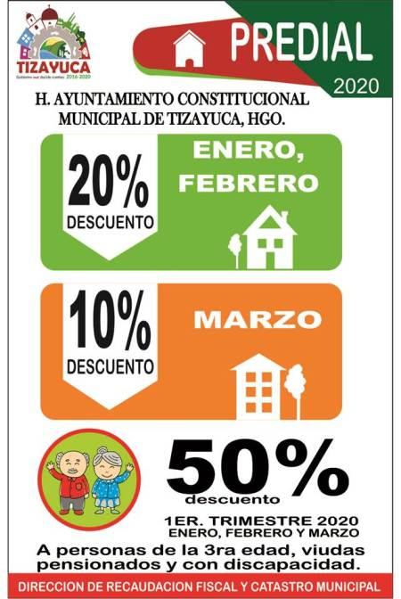 Ayuntamiento de Tizayuca ofrece importantes descuentos en el pago del impuesto predial