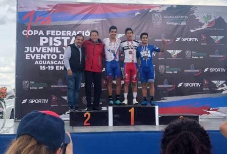 Ciclistas hidalguenses brillan en la primera fecha de la Copa Federación de pista y del Circuito de la Isla San Marcos1