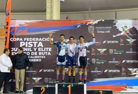 Ciclistas hidalguenses brillan en la primera fecha de la Copa Federación de pista y del Circuito de la Isla San Marcos2